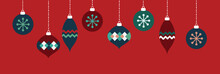 Red And Blue Holiday Ornaments