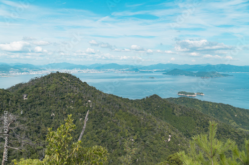 Miyajima View from Above Hiroshima Canvas Print