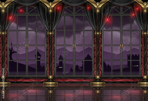 Photo ballroom design background wallpaper