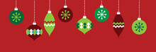 Red And Green Holiday Ornaments