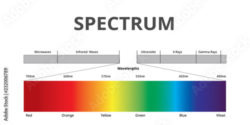 Fotografía  Visible Spectrum color, Electromagnetic Spectrum that Visible to the human eye,