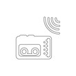Journalist recorder icon. Element of media for mobile concept and web apps illustration. Thin line icon for website design and development, app development