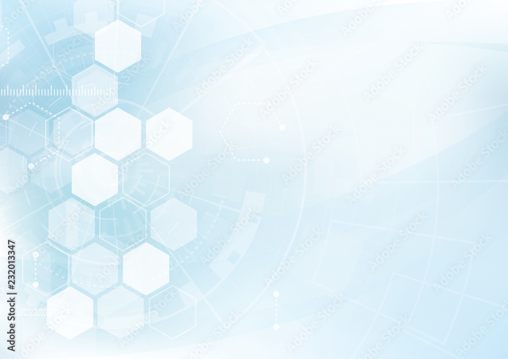 Fototapeta Vector Abstract background hexagons design. science futuristic energy technology. Hi-tech digital concept