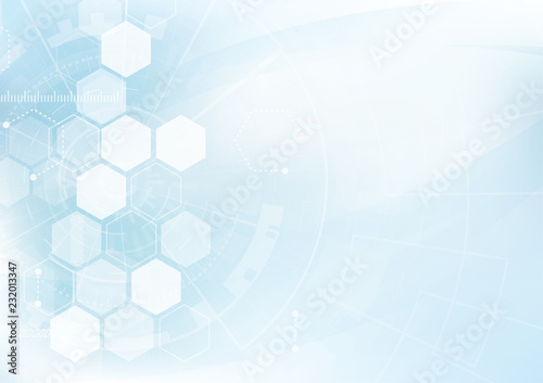 Obraz Vector Abstract background hexagons design. science futuristic energy technology. Hi-tech digital concept - fototapety do salonu