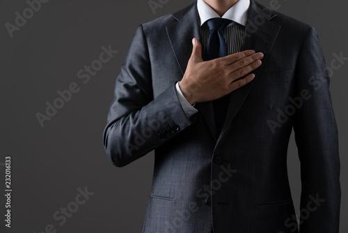 Cuadros en Lienzo 胸に手を当てるビジネスマン