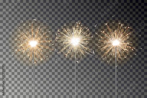 Photo  Bengal fire sparkle vector set