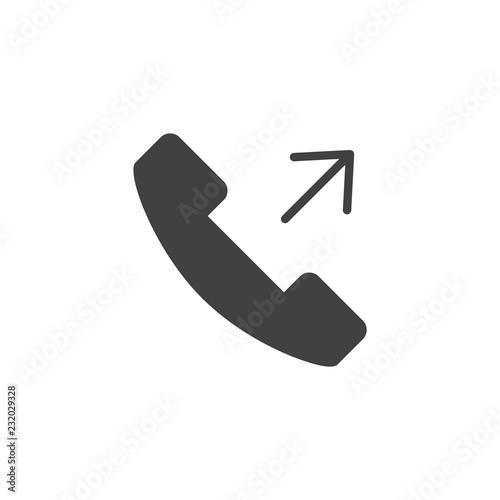 Fotografia, Obraz  Outgoing call vector icon
