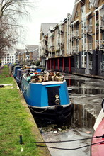 London Little Venice Frozen Canal