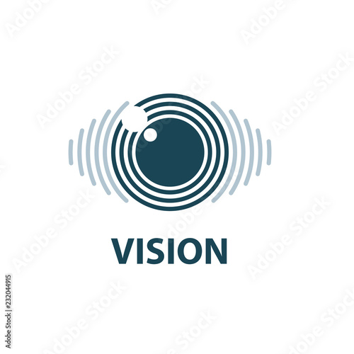 Sign in the shape of the eye. Vector illustration of the icon