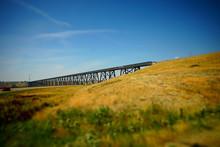 Old Railway Bridge Over River ...