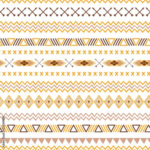 bezproblemowa-plemiennych-etniczne-wzor-aztec-abstrakcyjne-tlo-meksykanska-ozdobna-tekstura-w-zoltej-kawy-brazowe-kolory-wektora