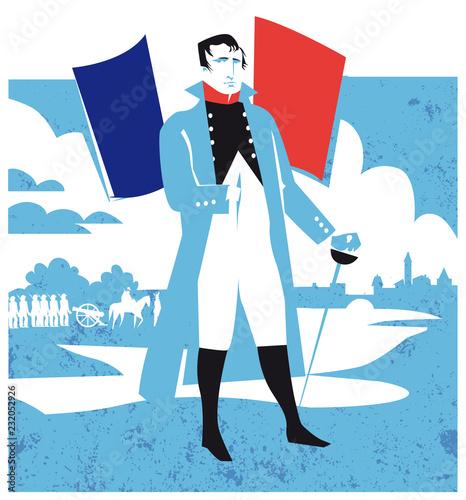 Fototapeta Napoleon Bonaparte vector illustration