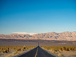Death Valley National Park, Mojave Desert lone road, California, USA: The hottest place on Earth