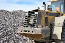 Bulldozer For Loading Rubble. Work For Real Men.