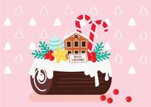 Christmas Log Cake Celebration...