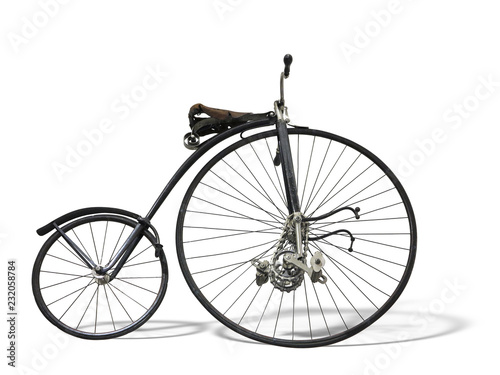 Türaufkleber Fahrrad Vintage old retro bicycle isolated on white background