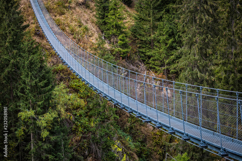 Poster Europese Plekken suspended bridge on alps