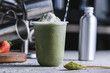 Matcha ice smoothies