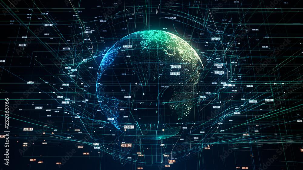 Fototapety, obrazy: global network illustration symbolizing global IT