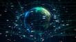 canvas print picture - global network illustration symbolizing global IT