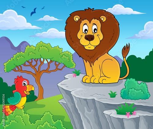 Staande foto Voor kinderen Lion theme image 3