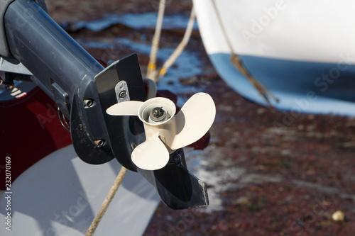 Fotografie, Obraz  Hélice de moteur de bateau