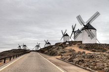 Old Windmill In Spain Consuegra