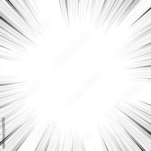 Fototapeta Comic book action lines. Speed lines Manga frame obraz na płótnie