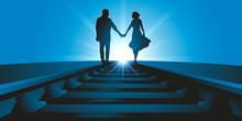 Un Couple D'amoureux Se Promè...