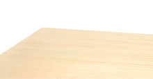 Perspective View Of Wood Or Wooden Table Corner On White Background Including Clipping Path