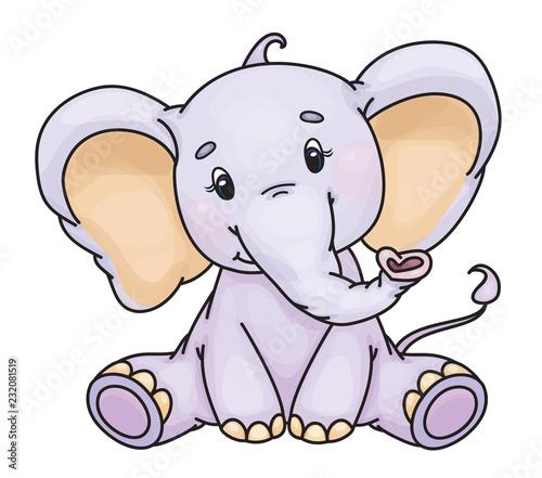 Wektorowy śliczny dziecko słoń.