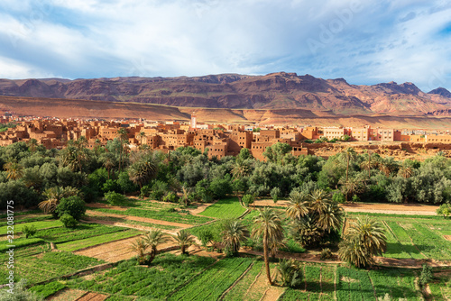 Fotomural Town and oasis of Tinerhir, Morocco