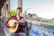 Fado Musician Playing On Portu...