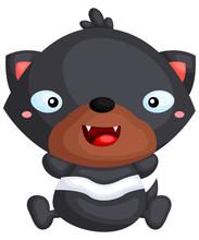 A Vector Of A Cute Tasmanian Devil