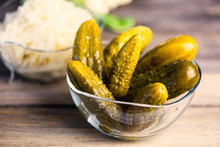 Pickled Cucumbers  In A Glass ...