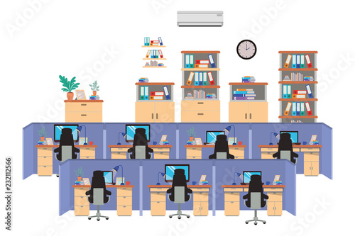 work cubicles isolated icon Fototapet