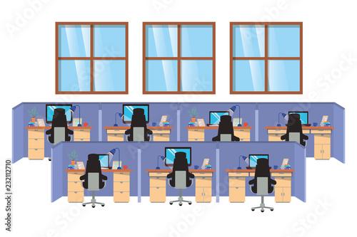 Fototapeta work cubicles isolated icon obraz na płótnie