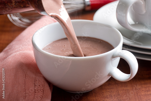 Printed kitchen splashbacks Chocolate Hot Chocolate Pour