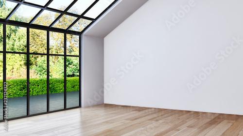 Photo  large luxury modern bright interiors Living room illustration 3D rendering compu