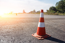 Traffic Cone, With White And O...
