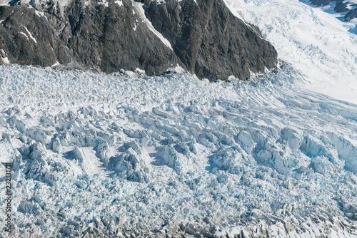 Fox Glacier close up winter season New Zealand natural landscape