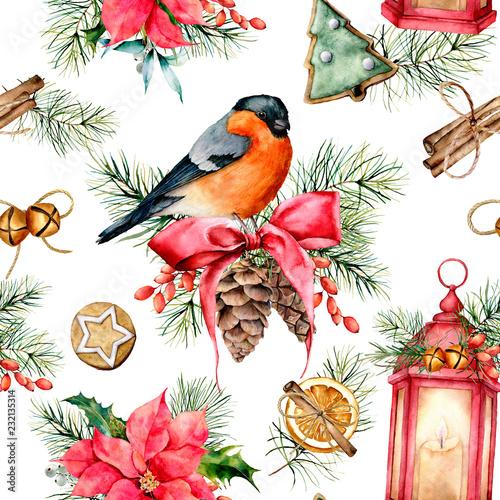 akwarela-boze-narodzenie-wzor-z-symbolami-wakacje-recznie-malowane-gil-latarnia-z-swieca-poinsecja-ostrokrzew-jemiola-szyszki-sosnowe-ciasteczka-cynamon-galaz-jodla-na-bialym-tle