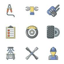 Mend Icons Set. Flat Set Of 9 ...