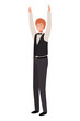 young business man avatar character