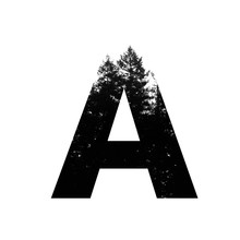 Letter A Hipster Wilderness Fo...