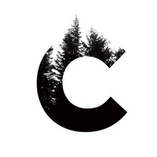 Letter C Hipster Wilderness Fo...