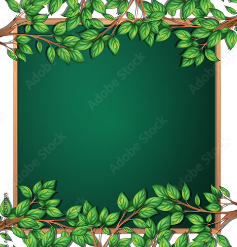 Staande foto Kids Wooden tree branch frame