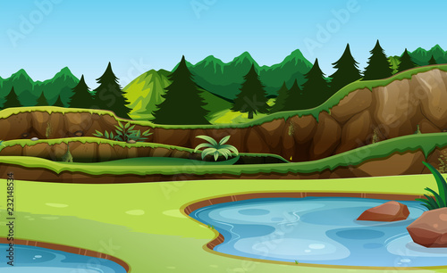 Staande foto Kids Beautiful green nature background
