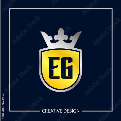 Initial Letter EG Logo Template Design Vector Illustration Fototapete