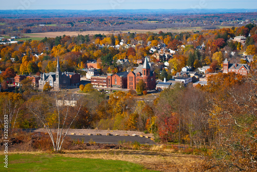 Valokuva  Scenic Vernon and Ellington CT Fall View